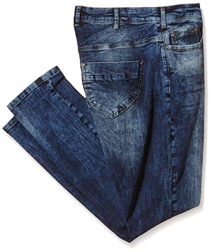 Zizzi J99006a - Pantalones Mujer Azul (Dark Blue 1077)