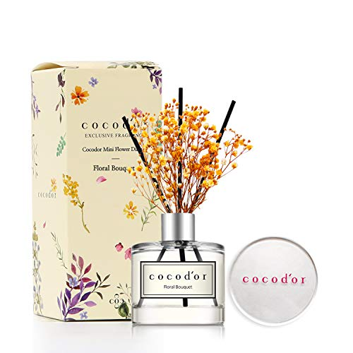 - Cocod'or Mini Flower Home & Car Diffuser/Floral Bouquet/1.6oz/Fragrance Decor for Cars Cubicles and Small Rooms/Diffuser Oil Sticks Gift Set