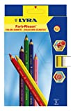 LYRA Color-Giants Lacquered Colored Pencils, 6.25 Millimeter Cores, Set of 12 Pencils, Assorted Colors (3941120), Office Central
