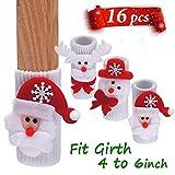 mini fridge wood cover - LimBridge 16pcs Christmas Chair Socks, Elastic Chair Leg Feet Floor Protectors Covers Set, Fit Girth from 4