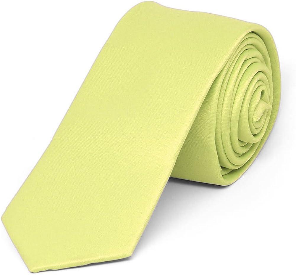 TieMart Lemon Lime Solid Color Pocket Square