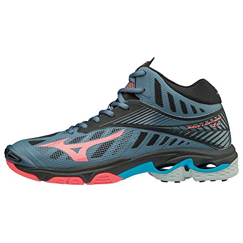 Z4mid Lightning Bluemirage 001 Blk Mizuno Wave Fcoral Zapatillas Mujer para Multicolor fp5EqH