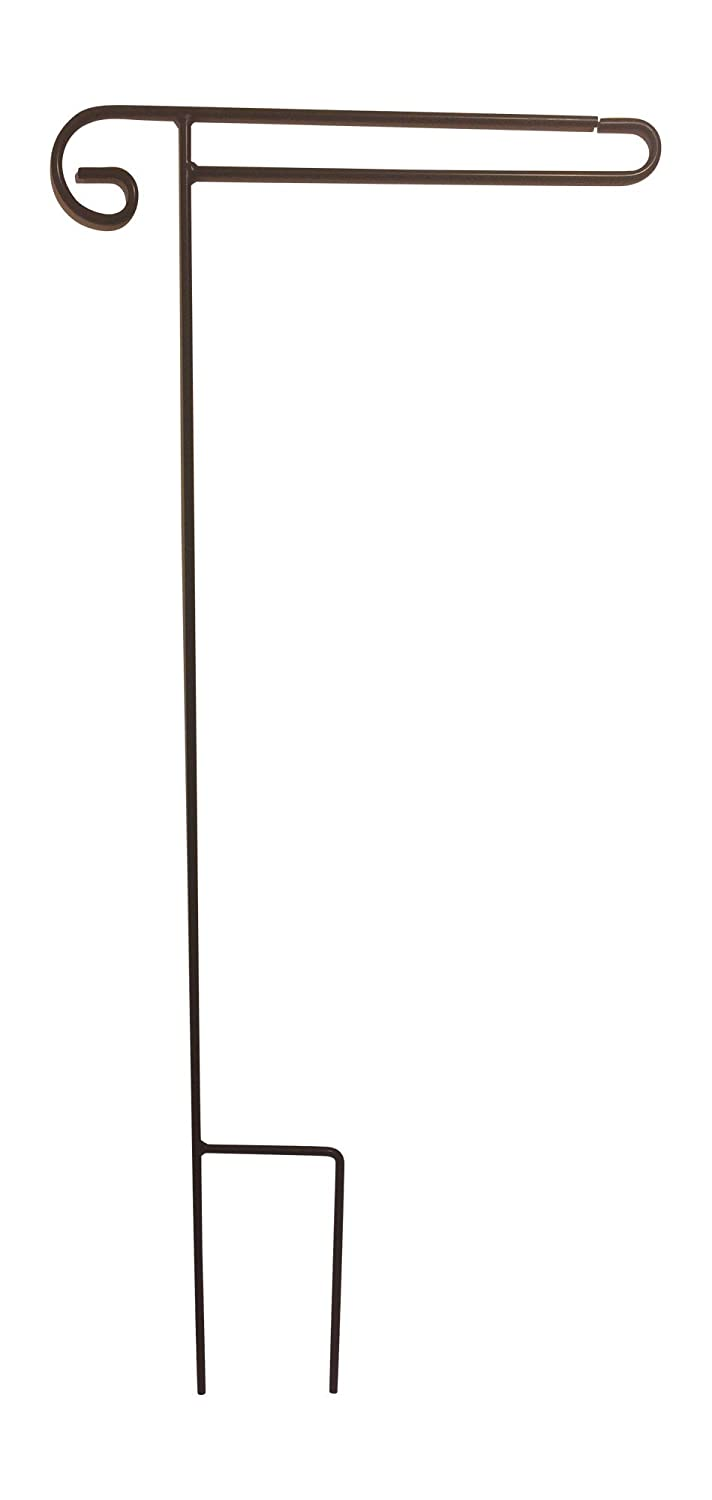 Premium Garden Flag Pole Stand, Amish Built in the USA, Wrought Iron, Powder-Coated Weather-Proof Paint,