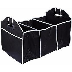 Folding Trunk Organizer Bag Car Storage Collapse Grocery Basket Bag