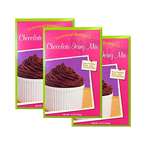 Homestead Baking Co. Chocolate Frosting Mix, 16 oz (3 pack) (Mix Icing Chocolate)