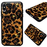 iPhone Xs Max Case 6.5 Inch Glitter Bling Shiny TPU Frame + PC Back Silicone Heavy Duty Protection Full-Body Protective Cover Shell Rubber Bumper Armor for iPhone Xs Max, by GEMYON - Leopard Print