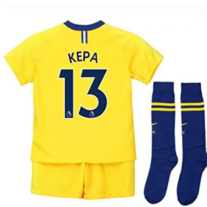 88ffa215f Image Unavailable. Image not available for. Color  UKSoccershop 2018-2019  Chelsea Away Nike Little Boys Mini Kit ...