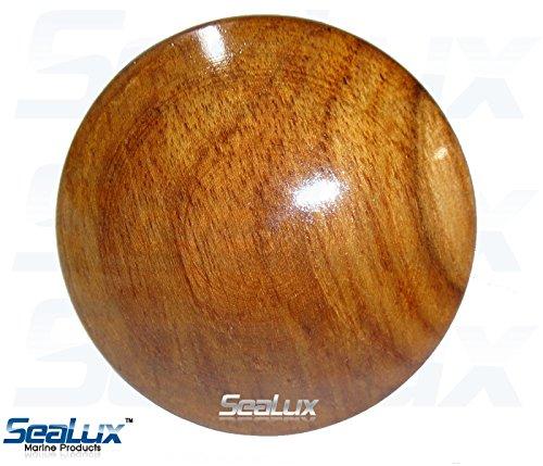 SeaLux Marine 2-5/8 INCH Genuine Teak Wood BOAT CENTER STEERING WHEEL CAP for Boat Destroyer Steel Wheels by SeaLux Marine Products (Image #6)