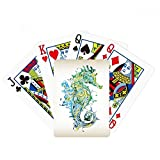 Colorful Hippocampus Marine Life Pattern Poker Playing Card Tabletop Board Game Gift