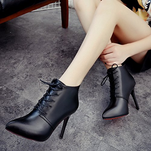 High Inner Platform GTVERNH Boots Martin Heel Thirty High And Autumn Heel Boots Boots Spring six Waterproof Fashion Short z8O1rz