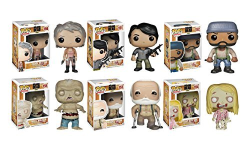 Funko POP! Walking Dead TV Vinyl Toy Figure Edition Five Series 5 Collector Set]()