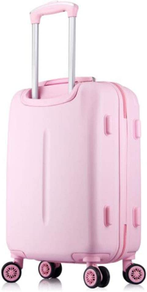 cm Aishanghuayi Suitcase for Retractable 8-Wheel Rotary fine-Tuning Checked Baggage red Color : Princess Powder, Size : 181126 inch Dark 35 23 50 Size