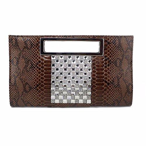 Brown Ladies' Handbag Handbag Banquet Cosmetics Banquet Ladies' Package Bag Brown wg1OzBqw