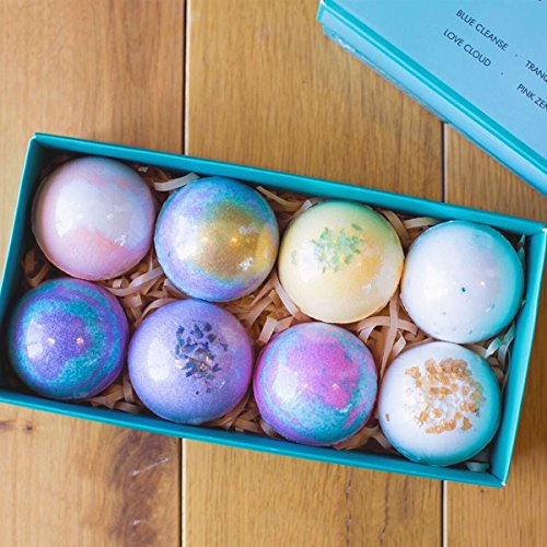 Bath Bombs Gift Set - 8 Luxury All Vegan Bubble Fizzies For Women, Relaxation Bath Bomb Kit - Relaxing Spa Gifts For Her - Unique Birthday & Beauty Products by Zen Breeze (Image #3)