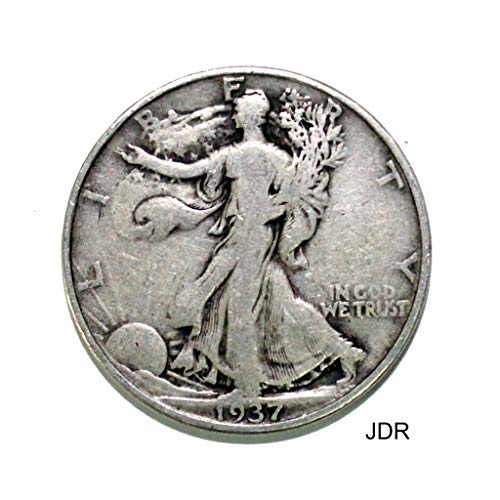 1937 D Walking Liberty Half Dollar 50c Average Circulated