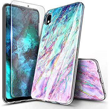 Robinsoni Case Compatible with Samsung Galaxy A10 Transparent Phone Case Soft Silicone TPU Case Glossy Gel Rubber Cover Two Layer Ultra Thin Cover 360 Protection Phone Cover for Galaxy M10 Clear