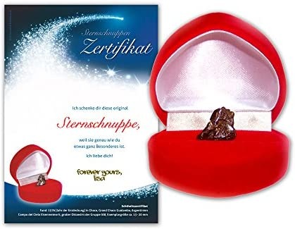 Echte Sternschnuppe In Geschenkbox 2 X Personalisierbarem Van Hoogen Inkl