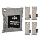Image of 5 Pack - Bamboo Deodorizer Car Freshener Bags, Odor Neutralizer, Charcoal Colored, Naturally Activated Bamboo Air Purifying Bag, 1x 500g & 4x 50g, Unscented by California Home Goods