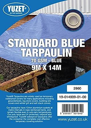Oypla SureTarp 9mtr x 14mtr Blue Tarpaulin - Home Garden 30ft x 46ft