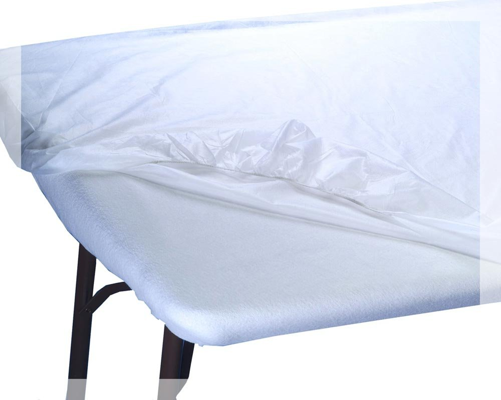 Appearus Disposable Water Resistant Fitted Massage Table Sheet Bed Covers 76x36x6 (10 Count)
