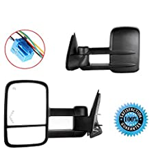 Scitoo Driver and Passenger Power Tow Side Mirrors Heated Signal Telescopic for Chevy GMC Pickup Truck GM1320355 GM1321355