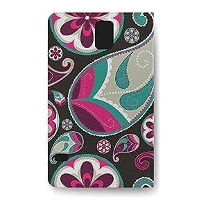 Leather Folio Phone Case For Samsung Galaxy S5 Leather Folio - Sassy Paisley Protective Wrap-Around wangjiang maoyi