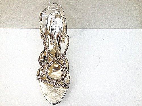 Sandale talon aiguille escarpins soirée strass mariage femme chaussures 3003-26 DORE