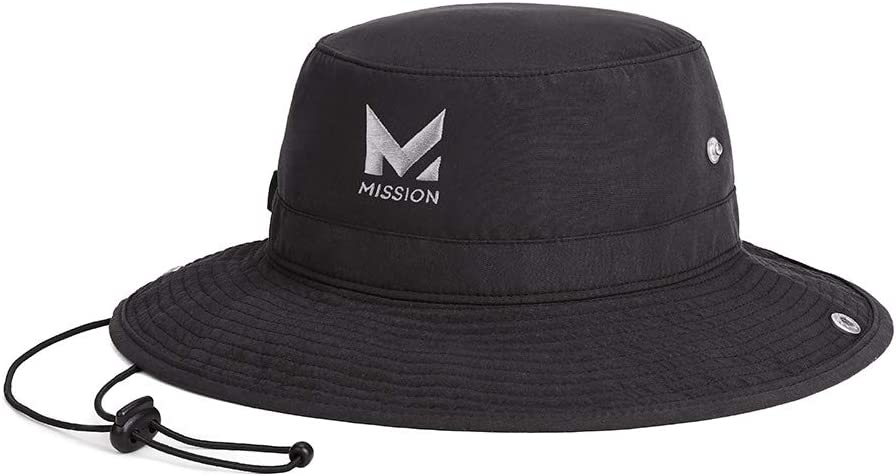 "MISSION Cooling Bucket Hat for Men & Women, UPF 50 Sun Protection, 3"" Wide Brim, Adjustable Strap, Evaporative Cooling Technology When Wet, Great for Summer, Outdoors, Fishing, Camping"