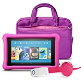 Fire HD 8 Kids Listening Bundle with Fire HD 8 Kids Edition (Pink), NuPro Sleeve (Purple/Pink) and Onanoff Foldable Headphones (Pink)
