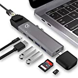 MaYoYo Modular USB C Hub Multi Type C Adapter with 4K HDMI,Thunderbolt 3(40Gbps) 100W Power Delivery,Gigabit Ethernet,SD/TF Reader,3 x USB 3.0 Ports Hub Compatible MacBook Pro 2016/2017/2018.