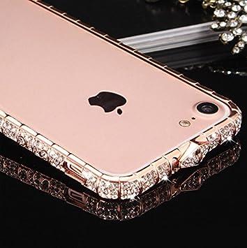 e4e0d6bfec apple iPhone 8 アルミバンパー ケース ラインストーン キラキラ エレガント かわいい おしゃれ 金属アルミ アイフォン8
