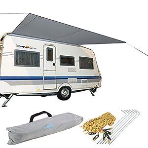 Bo-Camp Caravan Markise Wohnwagen Sonnensegel Wohnmobil Vordach Camping Bus 2,4 x 3,5 m