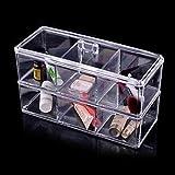Felji Acrylic Jewelry & Makeup Organizer 3 Compartments Stackable 1172