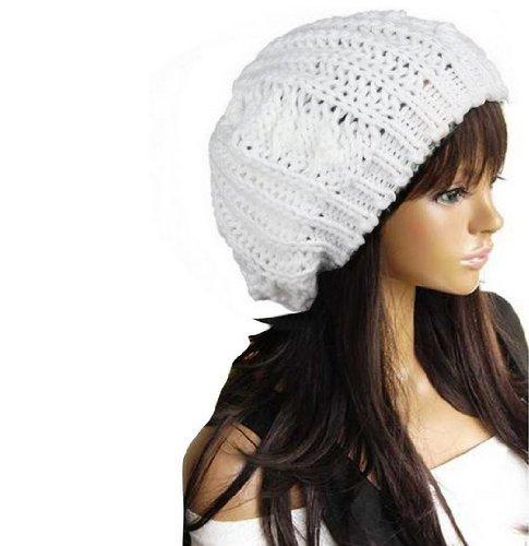 WAWO Dasuke Bonnet Beanie Baggy en Tricot pour Femme, en Laine Chaude pour  Le Ski (Blanc)  Amazon.fr  Cuisine   Maison cf11695fe11