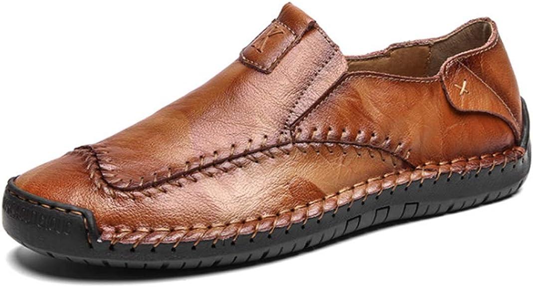 Zapatos Casuales de Hombre Mocasines de Cuero Mocasines Moda ...