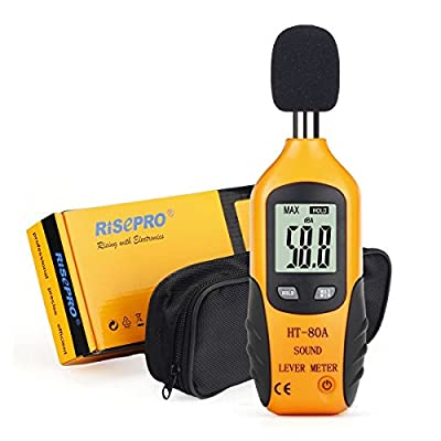 Decibel Meter, RISEPRO® Digital Sound Level Meter Audio Noise Measure Device Dual Ranges HT-80A