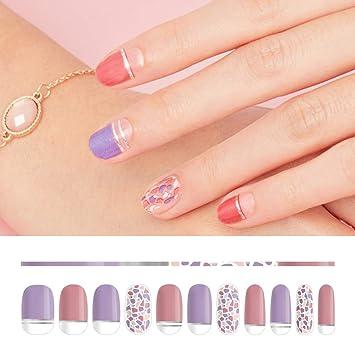 Amazon Com Feelin Nail Design Stickers 36 Designs 01 Purple