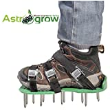 Kyпить Astrogrow premium Lawn Aerator Shoes - Heavy Duty Spiked Aerator Sandals for Revive Lawn or Yard Aeration - 4 Strong Metal Buckles with 4 Adjustable Straps - Free Bonus effective EBook & Wrench на Amazon.com