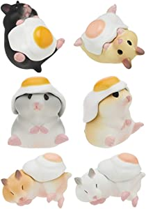 Kitan Club Hamster 'N Egg Version 2 Plastic Toy - Blind Box Includes 1 of 6 Collectable Figurines - Fun, Versatile Decoration - Authentic Japanese Design - Made from Durable Plastic