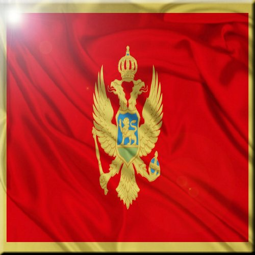 Rikki Knight Montenegro Flag Design Ceramic Art Tile 6 x 6