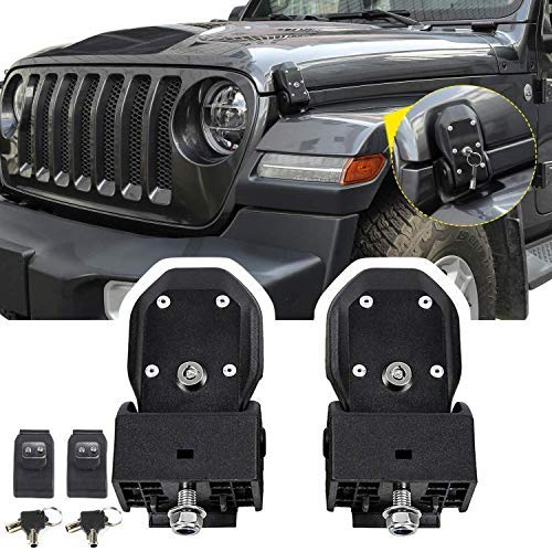 Jeep Wrangler Installation Instructions - HEQIANG One Pair OEM Black Latch Locking Hood Catch Latches Kit for Jeep Wrangler JK 2007-2017 JL 2018 2019(Installation Instruction Included)