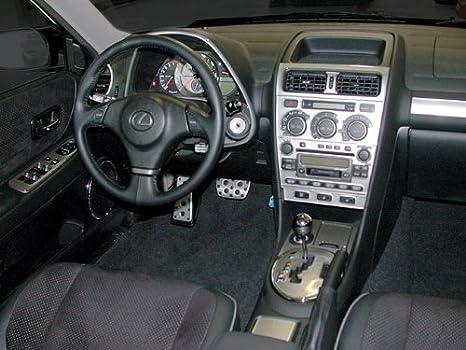 LEXUS IS300 300 Int/érieur en Argent bross/é Aluminium Dash Kit Garniture Set 2001 2002 2003
