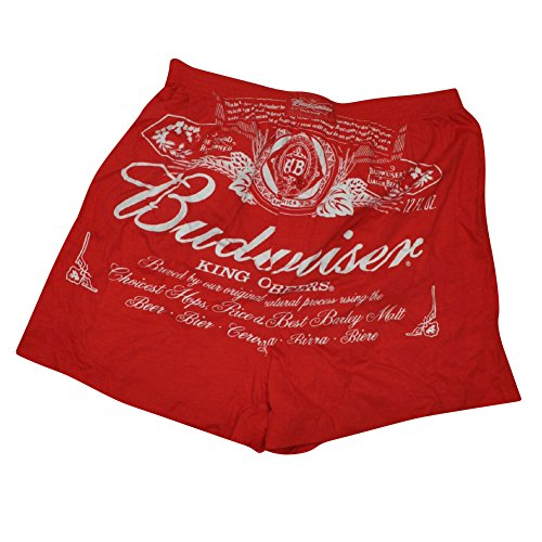 Budweiser King of Beers Elastic Waist Mens Boxer Shorts Underwear Cotton Large