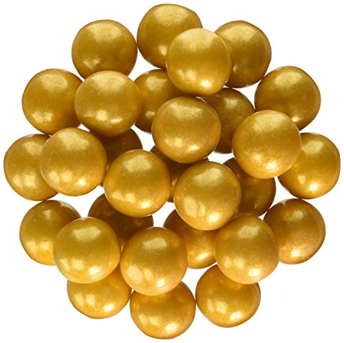 Sweetworks Celebration Candy Gumballs Bag, 8 oz, Shimmer Gold]()