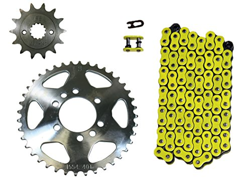 Suzuki Chain (Yellow 520x98 Drive Chain 14/41 Sprockets 2003-2008 Suzuki LT-Z400 Quadsport 400)