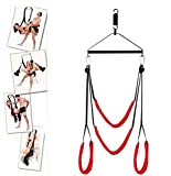 Second Generation of Sex Swing Holds Weight up to 600 lbs,Vmitor Luxury Heavy Duty Indoor Swing with Steel Triangle Frame and Spring for Fetish Sex Bondage Unisex