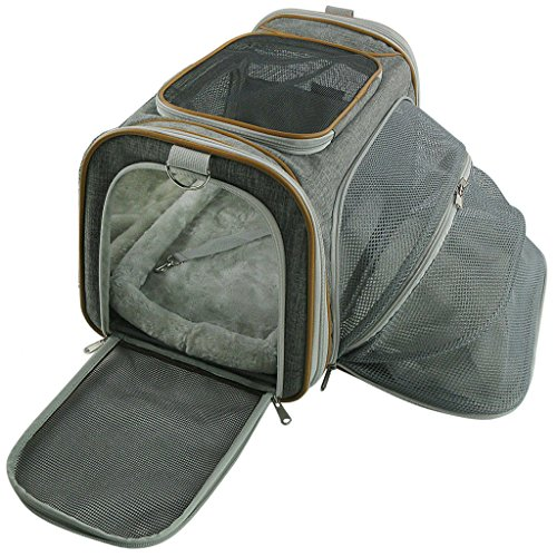 Expandable Airline Approved Pet Carrier by Mr. Peanut's, 18LX10.5WX11