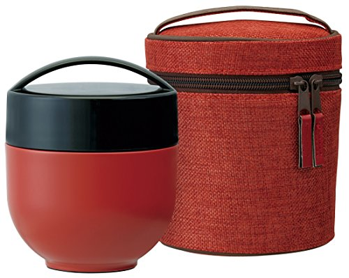 Japanese BENTO-BAKO,Thermal Lunch Box with Carrying Bag,Elegant Plum Red (japan import) by Skater