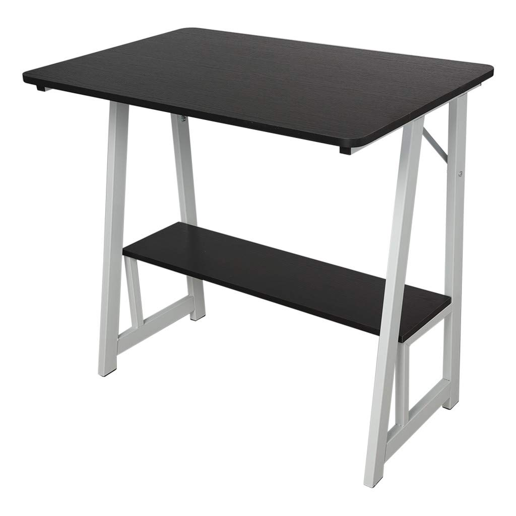 Simple Style Computer Desk 31.5''×19.7'', Sonmer Desktop Study Table Office Desk Workstation for Home Office, US Stock - Two-Day Shipping (Black)