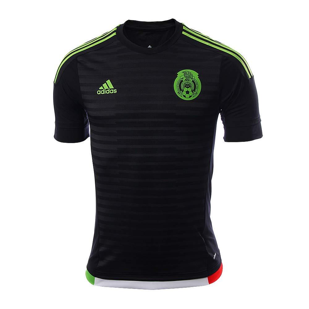 950b8b930dc Amazon.com  Adidas Mexico 2015 Authentic Home Dark Shale Semi Solar Green  Jersey  Sports   Outdoors